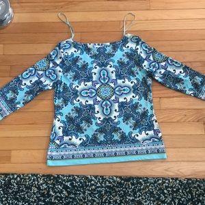 Pattern 3/4 sleeve top